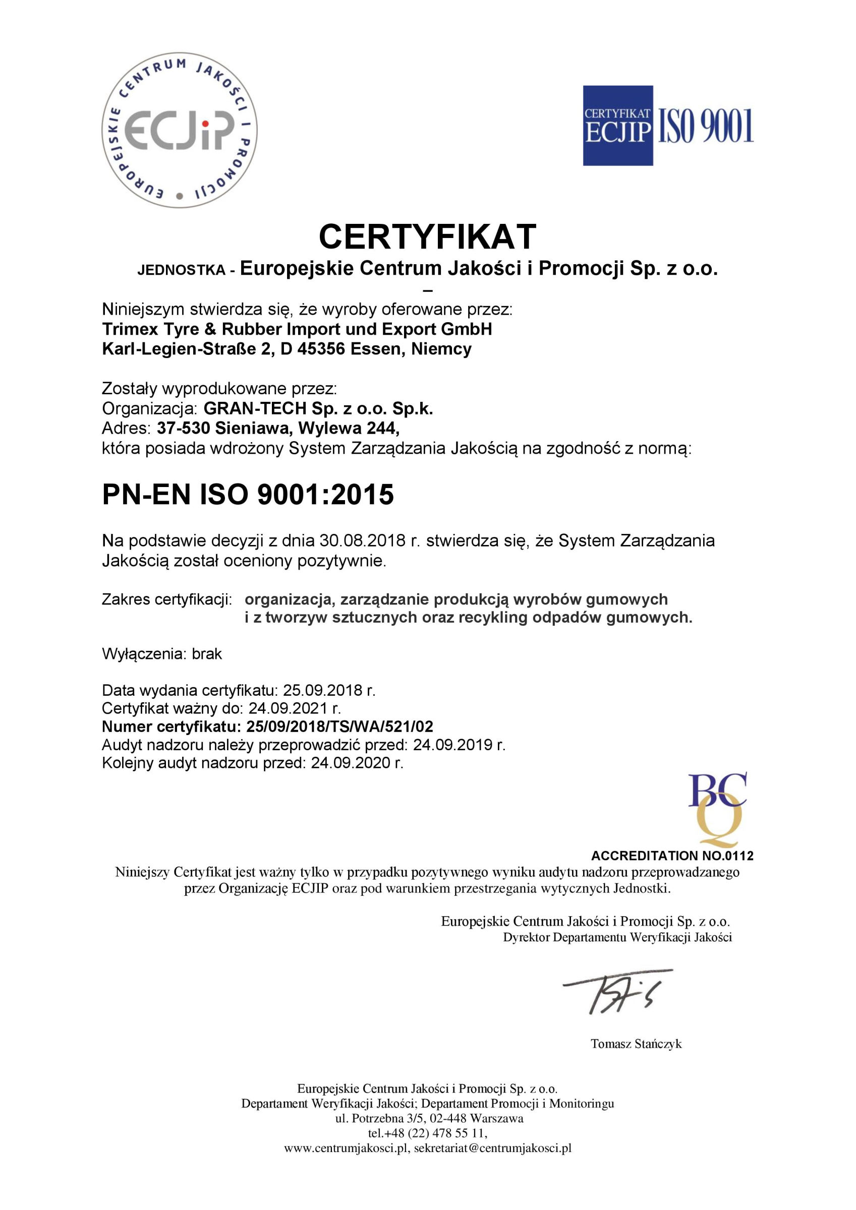GRAN-TECH - ISO 90012015 2018-page-001